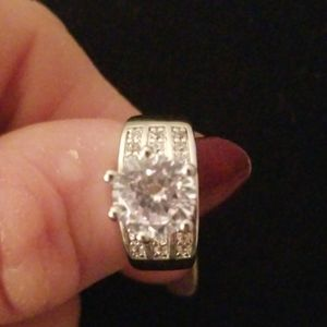 . Cubic zirconia band ring